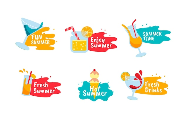 描かれた夏のバッジのデザイン