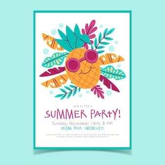 Шаблон для рисованной летней вечеринки