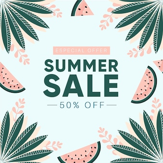 Drawn summer sale design