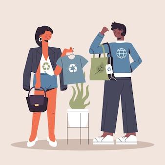 Disegnato concetto di moda sostenibile