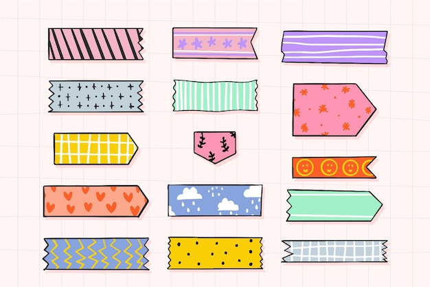 Drawn washi tape collection