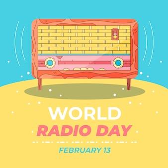 描かれた世界のラジオの日のイベントが示されています