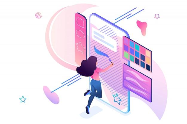 소프트웨어 앱을 사용하여 스마트 폰 화면에 그리기