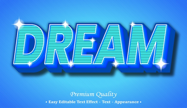 Dream 3d editable text style effect