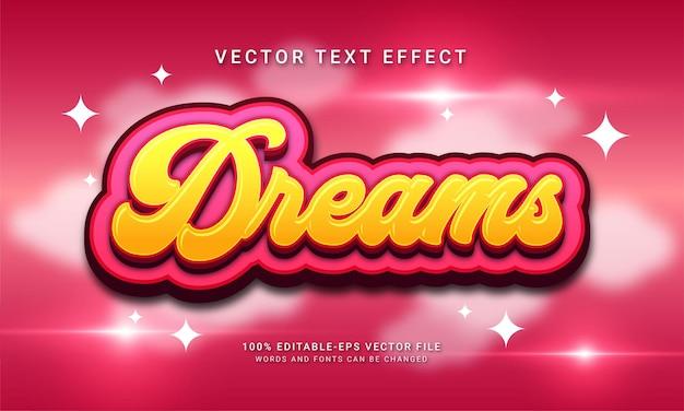 Мечта 3d эффект стиля текста