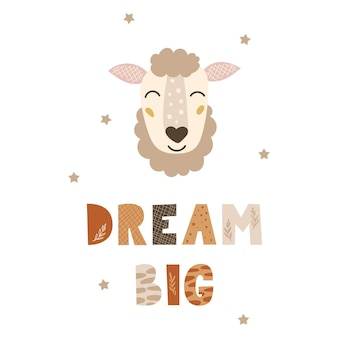 Dream big - cute nursery design.
