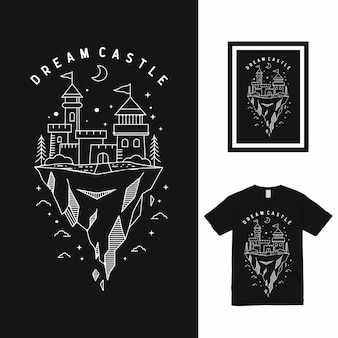 Дизайн футболки dream castle high line art