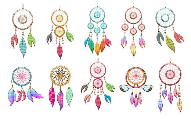 Dream catcher  set clipart