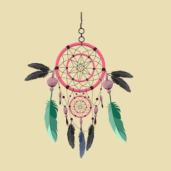 Dream catcher vector.