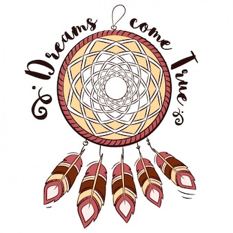 Dream catcher with a phrase