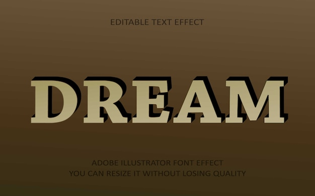 Dream editable text effect