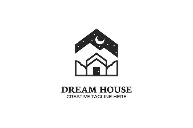 Dream house architecture logo