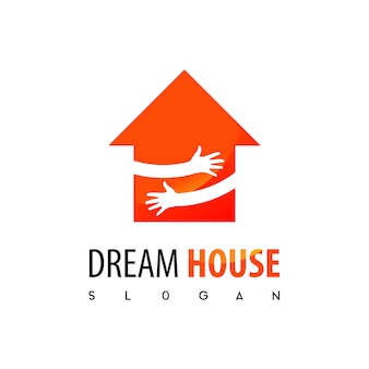 Dream house, real estate logo