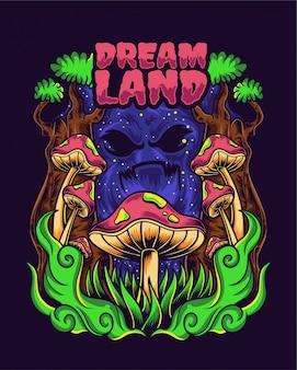 Dream land illustration