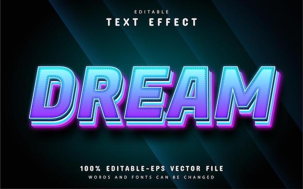 Dream text, editable text effect