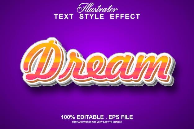 Dream text effect editable