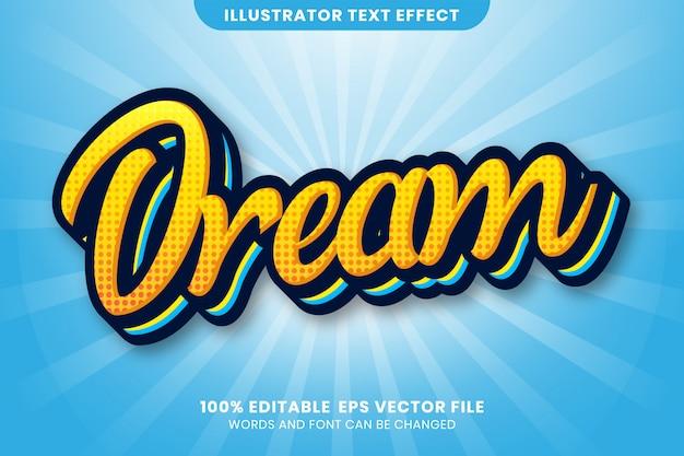 Текстовый эффект мечты