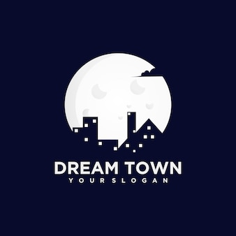 ドリームタウン、ナイトタウン、クリエイティブなロゴリファレンス