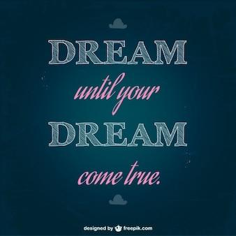 Sognare tipografia illustrazione arte