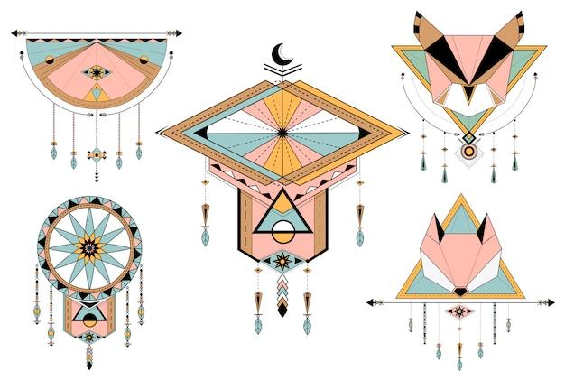 Dreamcatcher стиль векторов на фоне