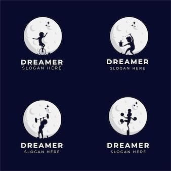 Dreamer child  logo design set