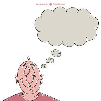 Dreamer man illustration