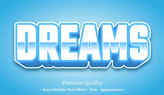 Dreams 3d editable text style effect