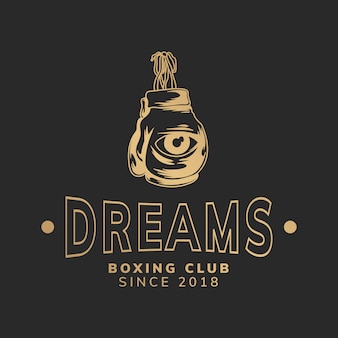 Dreams boxing club illustration