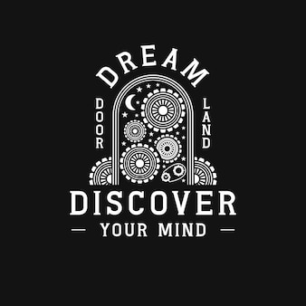 Dreams door mind working logo
