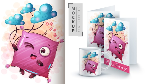 Dreams pillow poster and merchandising