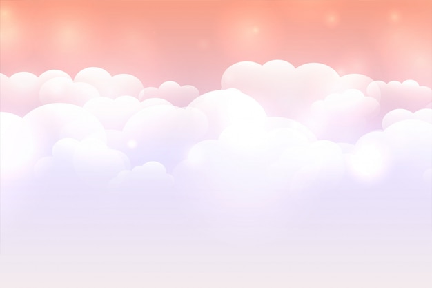 Dreamy cloud background with pastel color sky