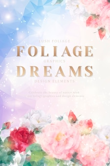 Dreamy floral invitation card