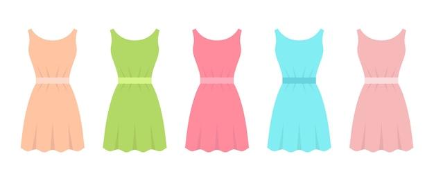 白い背景で隔離のフラットなデザインイラストをドレスアップします。