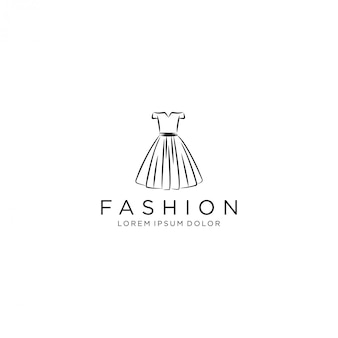 Dress logo, luxury gown dress