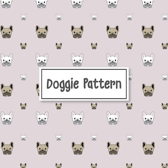 Dress up your day doggie pattern background