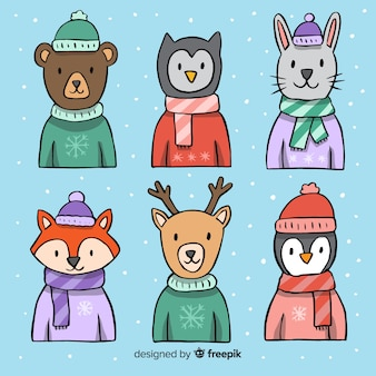 Dressed animals winter collection