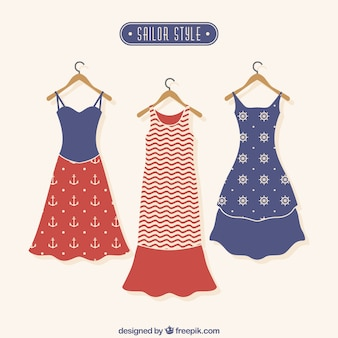 Dresses in sailor style