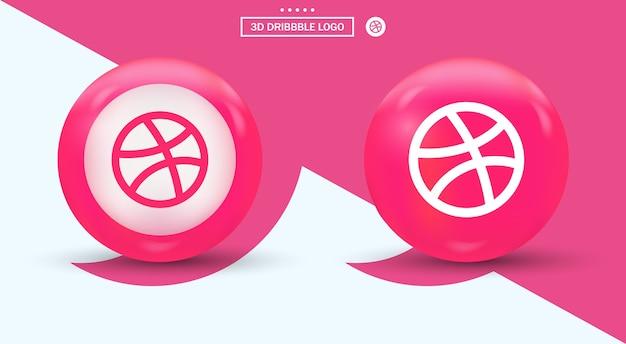 モダンなスタイルのソーシャルメディアロゴによるドリブルロゴ