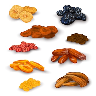 Dried fruit set