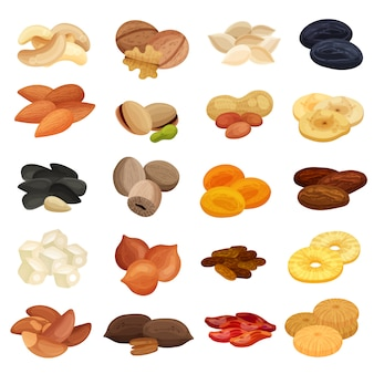 Dried fruits nuts collection