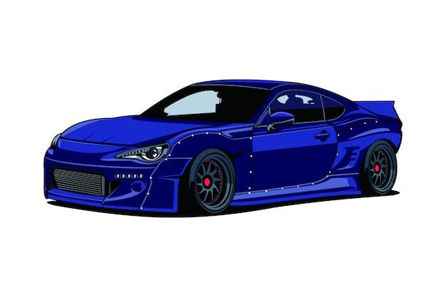 Drift car illustration