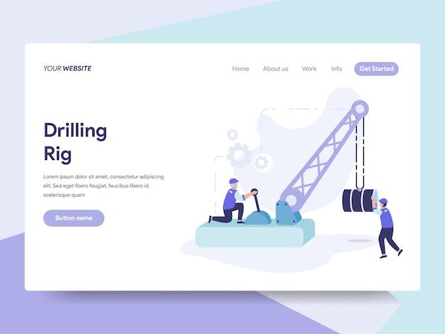 Drilling rig illustration