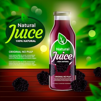 Drink ad nature blackberries juice