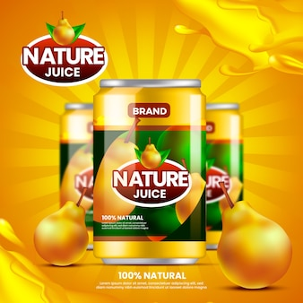 Drink ad nature pear juice