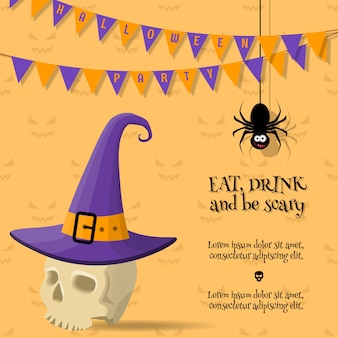 Drink and be scary halloween card