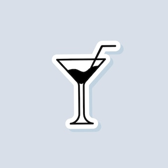 Drink and champagne sticker, logo, icon. vector. alcoholic cocktails. cocktail icon. vector on isolated background. eps 10
