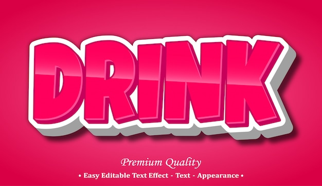 Drink  font style effect
