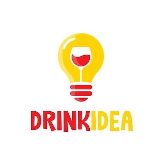 Drink idea logo template vector illustration