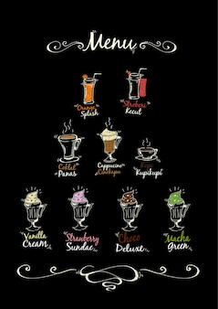 Drink menu background
