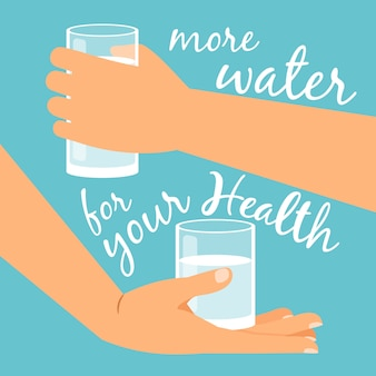 Drink more water for health